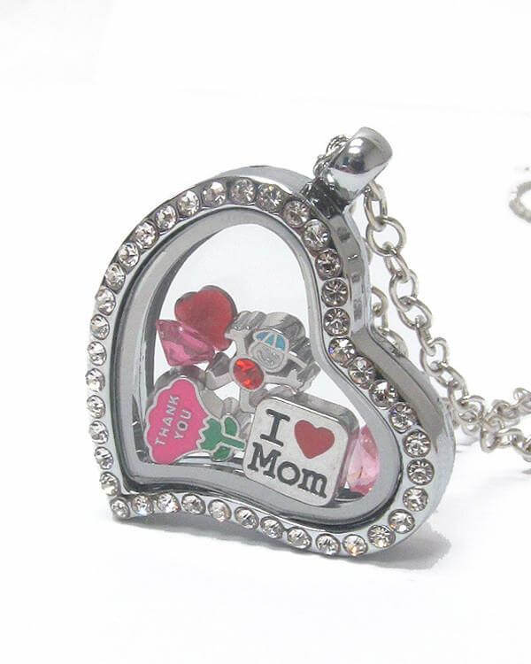 Heart Charm Locket for Mother's Day , Women - Jewelry - Necklaces - The House of Awareness, The House of Awareness