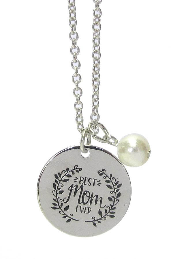 Best Mom Ever Inspiration Message Pendant Necklace - The House of Awareness