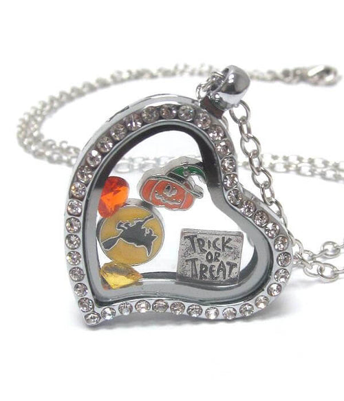 Charm Heart Halloween Locket Necklace - The House of Awareness
