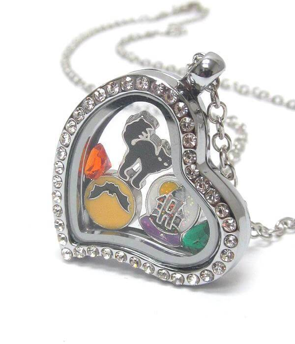 Heart Charm Halloween Locket Necklace - The House of Awareness