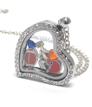 Heart Charm Locket for Football Lovers - The House of Awareness