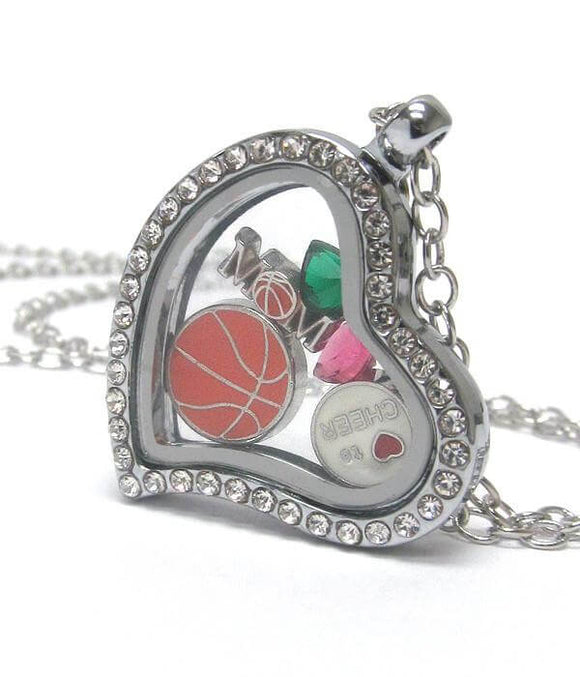 Heart Charm Locket for a Basketball Mom - The House of Awareness