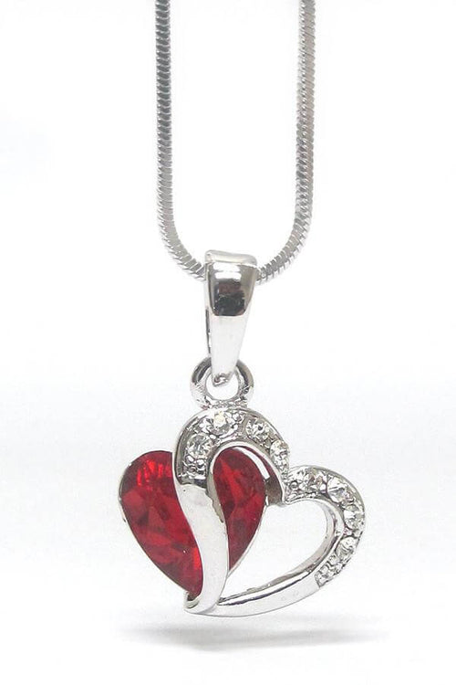 Crystal Heart Pendant Necklace for Love - The House of Awareness