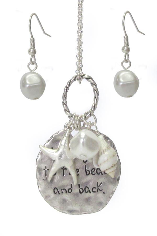 Sealife Theme Multi Charm Pendant Necklace Set - Love you to the beach and back - The House of Awareness