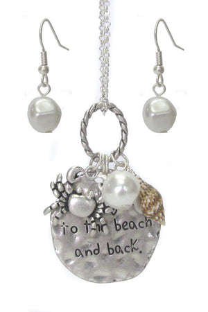 SEALIFE THEME MULTI CHARM PENDANT NECKLACE SET - CRAB - The House of Awareness