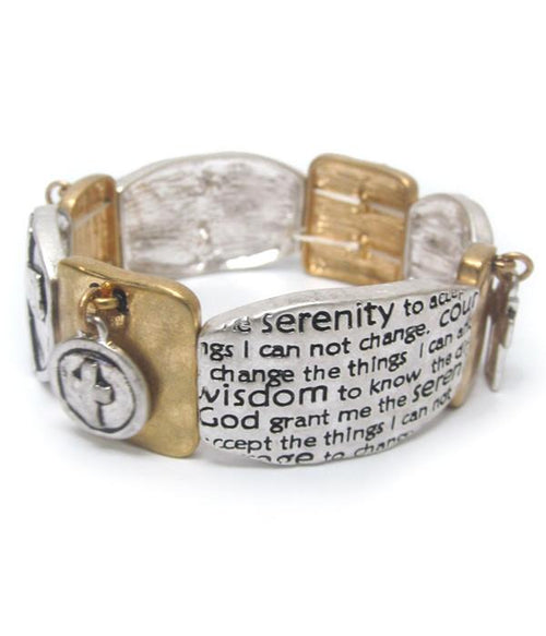 Serenity Prayer Stretch Bracelet - The House of Awareness