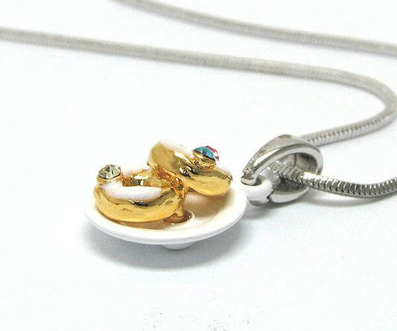 Children's Two Miniature Donuts Pendant Necklace , Children - Girls - Jewelry - The House of Awareness, The House of Awareness