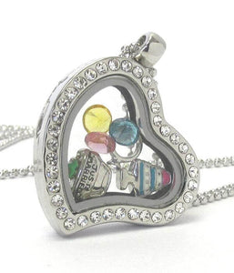 Heart Charm Locket Necklace for Weddings - The House of Awareness