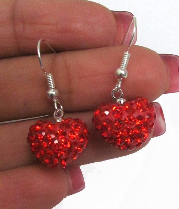 Valentine Crystal Heart Earrings - The House of Awareness