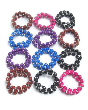 Acrylic Stone Stretch Bracelet in Assorted Colors - The House of Awareness