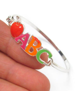 School ABC Bangle Bracelet , Women - Jewelry - Bracelets - The House of Awareness, The House of Awareness