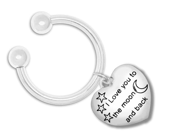 I Love You to The Moon and Back Key Chain for all Causes - The House of Awareness