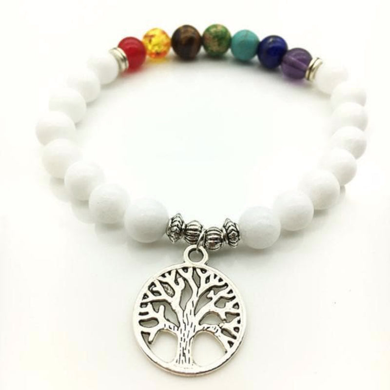 7 Chakra Bracelet Tree of Life Bead Bracelet - The House of Awareness