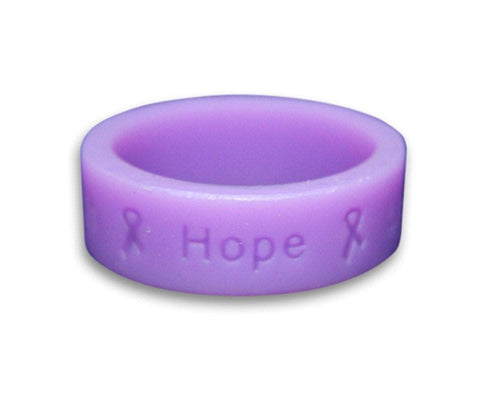 Lavender Ring with Words Faith, Hope, Love - The House of Awareness
