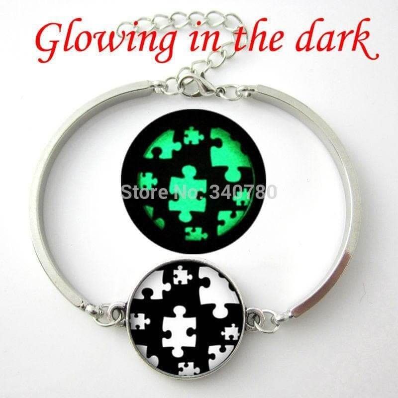 Glow in the dark Autism Awareness Bracelet - The House of Awareness