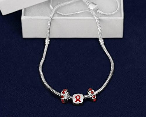 Red Ribbon Awareness Necklace for Causes - The House of Awareness