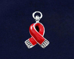 Awareness Causes Red Small Ribbon Charm - The House of Awareness