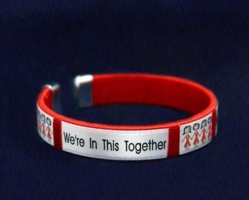 We're in This Together Red Ribbon Bracelet for Causes - The House of Awareness