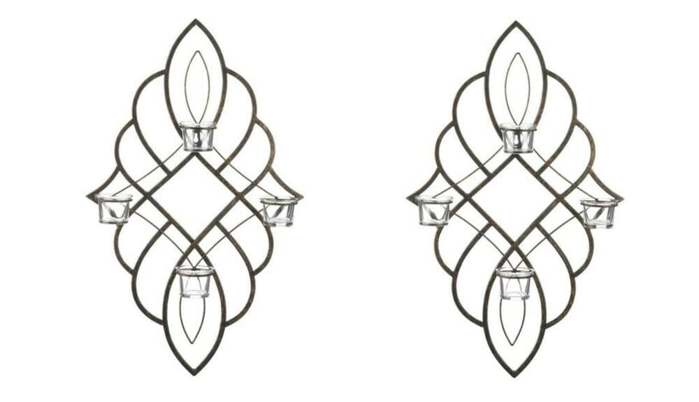 Set of 2 Candle Sconces Wall Art - The House of Awareness