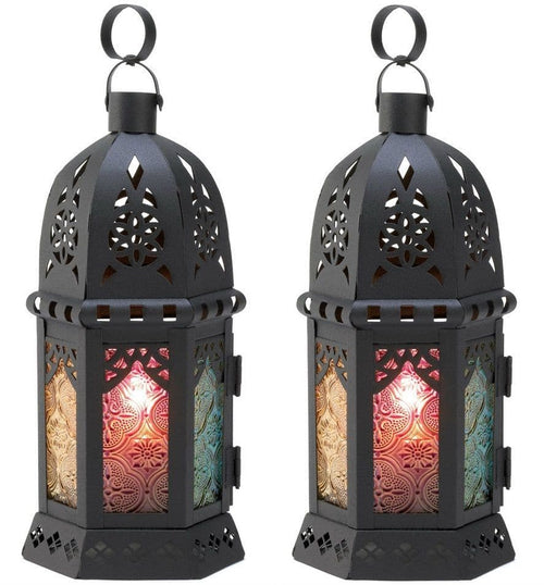 Set of 2 Enchanted Rainbow Candle Lanterns - The House of Awareness