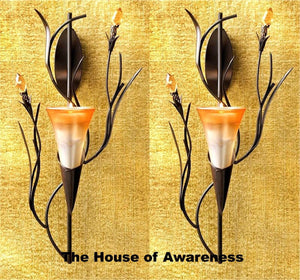 2 Dawn Lily Wall Sconces - The House of Awareness
