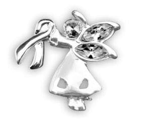 Silver Ribbon Pin for Autism Awareness - The House of Awareness