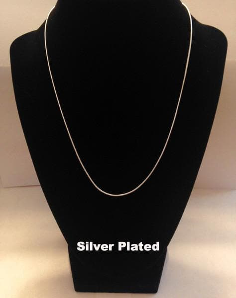 Silver Ribbon Necklace - Silver Trim for Awareness Causes - The House of Awareness