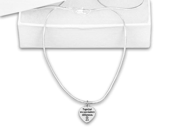 Together We Can Make a Difference Necklace for all Causes - The House of Awareness