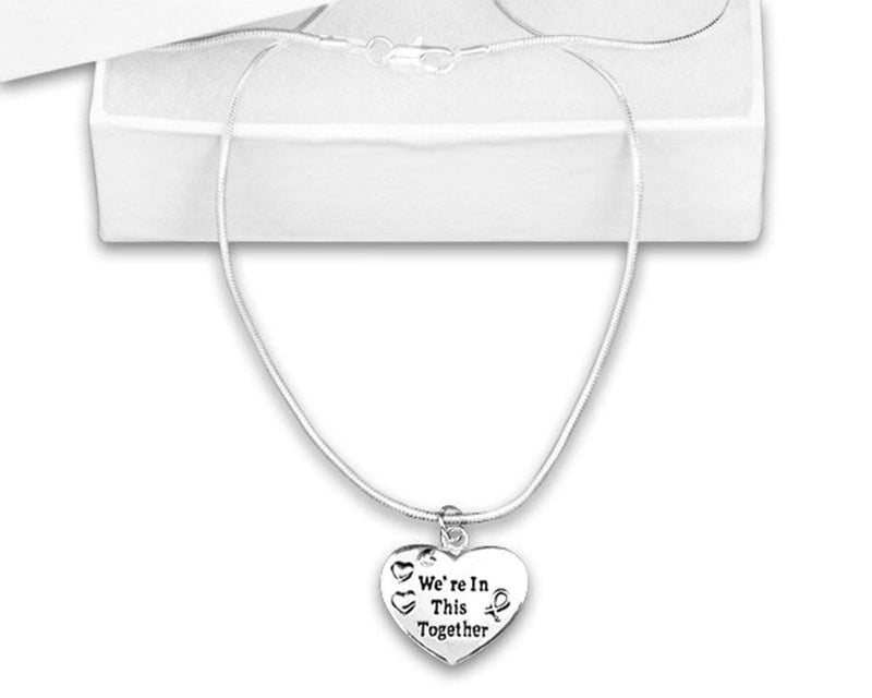 Silver We're In This Together Awareness Necklace for all Causes - The House of Awareness