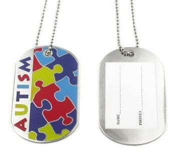 Autism Awareness Identification Necklace. - The House of Awareness