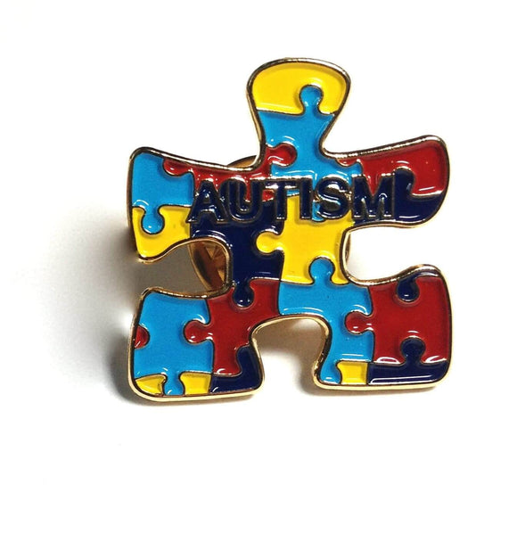 Autism Puzzle Pin , lapel pin - The House of Awareness, The House of Awareness  - 1