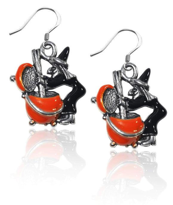 Designer Silver Witch Charm Earrings - The House of Awareness