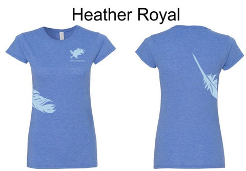Feather & Logo T-Shirt Ladies Short Sleeve
