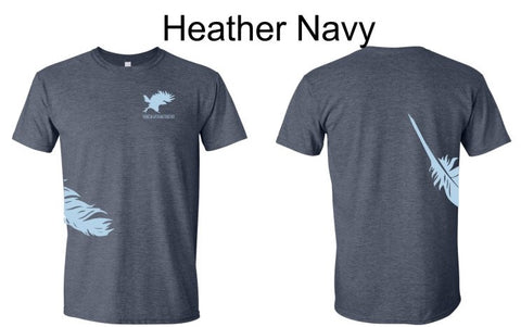 Feather & Logo T-Shirt Men's Short Sleeve