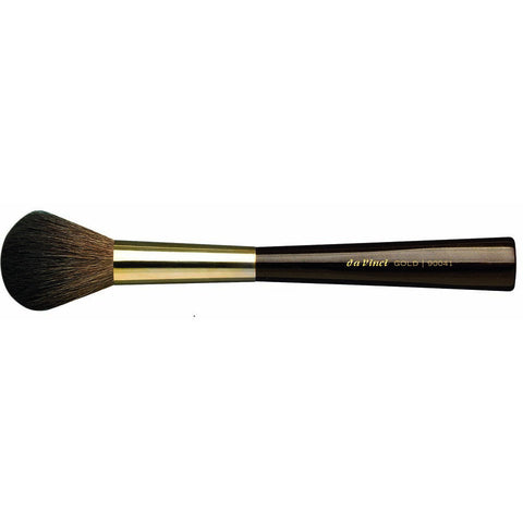 BLUSHER BRUSH ROUND GOLD