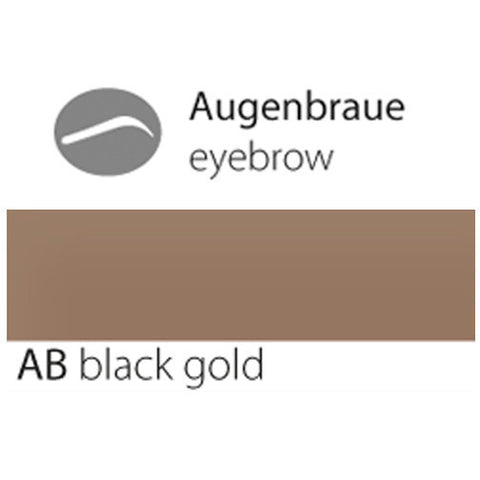 Permanent makeup eyebrow black gold