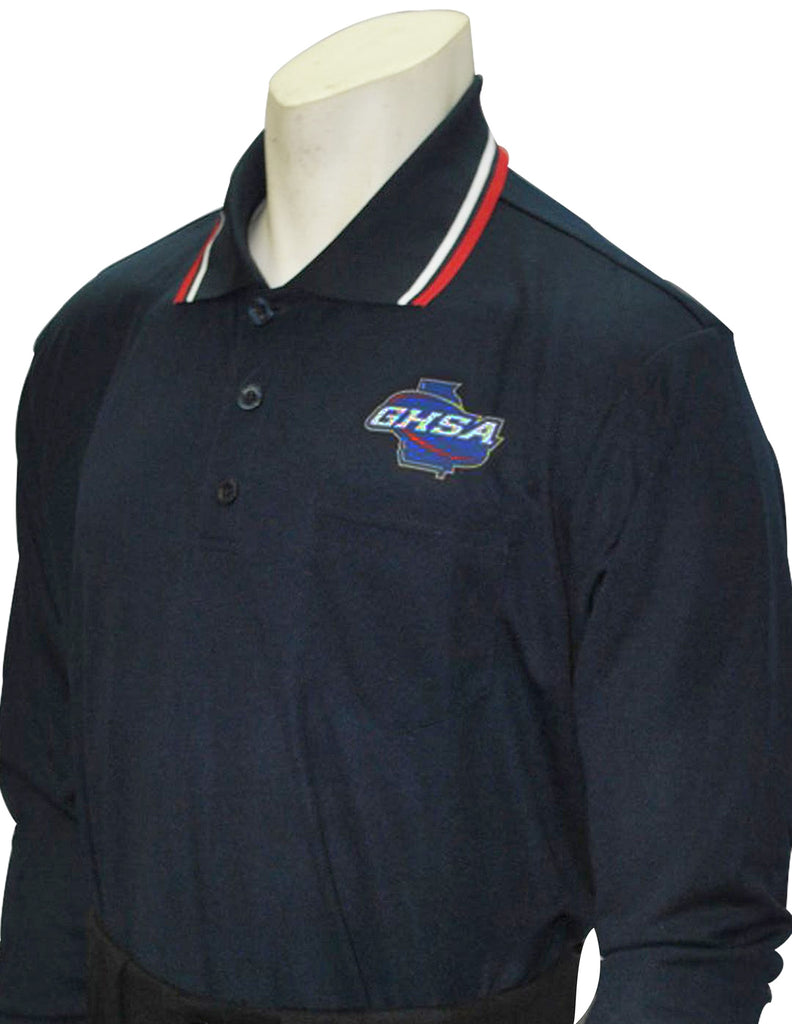 USA301 GA Long Sleeve Baseball Shirt Navy