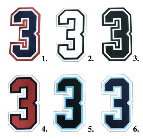 3 Inch Umpire Numbers