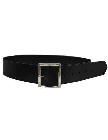 "ACS563 - Leather 1 3/4"" Black Belt"