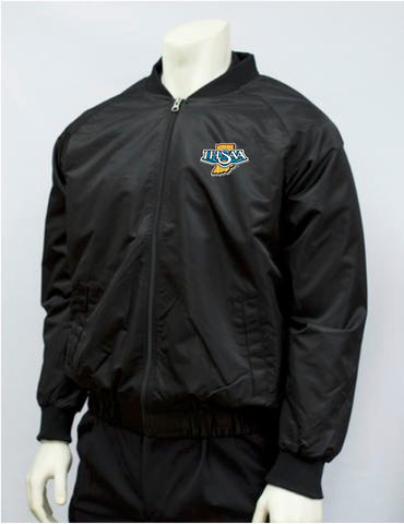 "BKS220IN-""IHSAA"" Smitty Black Jacket with Full Front Zipper"