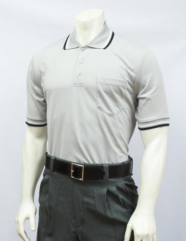 BBS300 GRY - Smitty Performance Mesh Umpire Short Sleeve Shirt