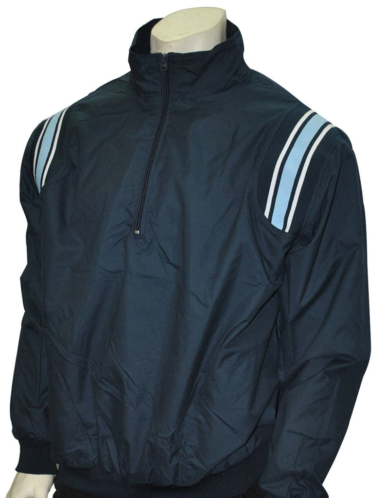 BBS320 NY/PB - Smitty Long Sleeve Microfiber Shell Pullover Jacket W/ Half Zipper