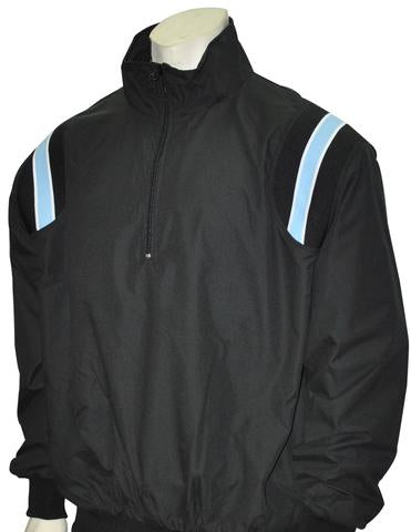BBS320 BLK/PB/White - Smitty Long Sleeve Microfiber Shell Pullover Jacket W/ Half Zipper