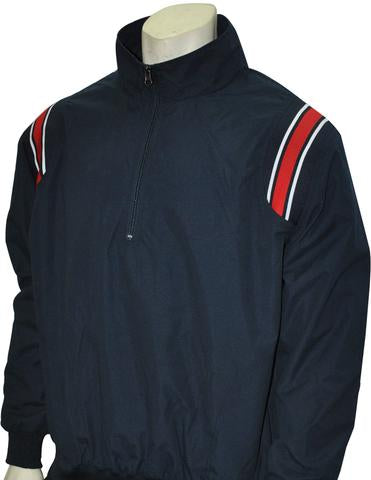 BBS320 NY/RWB - Smitty Long Sleeve Microfiber Shell Pullover Jacket W/ Half Zipper
