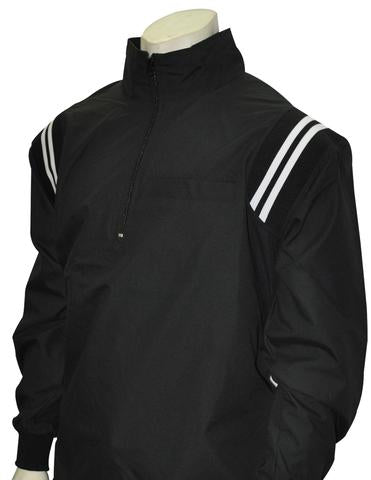BBS322 - Smitty Long Sleeve Microfiber Shell Pullover Jacket W/ Half Zipper W/ Open Bottom