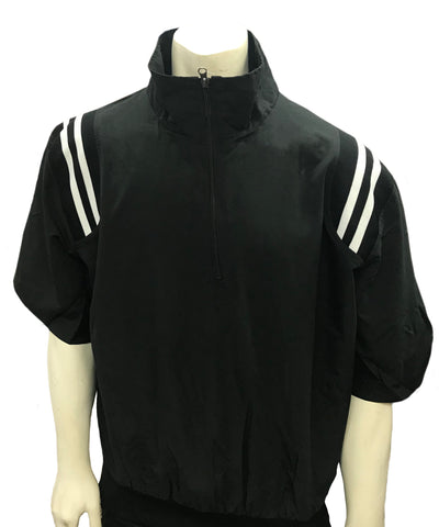 BBS324 BLK/WHT - Smitty 1/2 Sleeve Pullover Jacket W/ Half Zipper