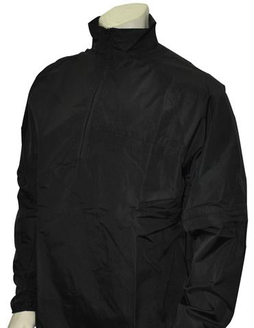 BBS326 BLK - Smitty Major League Style Lightweight Convertible Sleeve Umpire Jacket