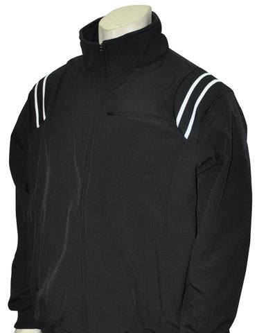 BBS330 BLK/WHT - Smitty Major League Style All Weather Fleece Jacket