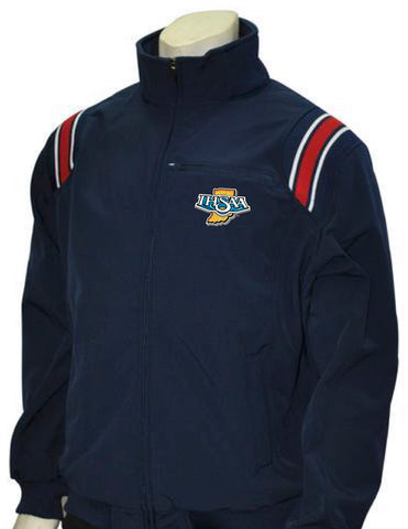 "BBS330 ""IHSAA"" NY/Red/White - Smitty Major League Style All Weather Fleece Jacket"