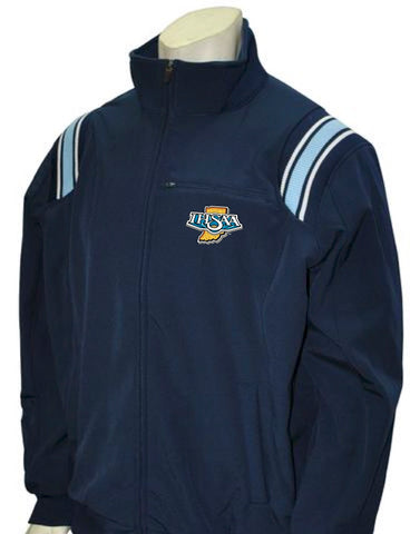 "BBS330 NY/PB/White - ""IHSAA"" Smitty Major League Style All Weather Fleece Jacket"